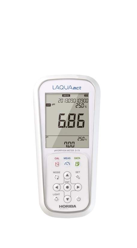 LAQUAact Portable Ion Meter D-73G-S Combination pH-Ion