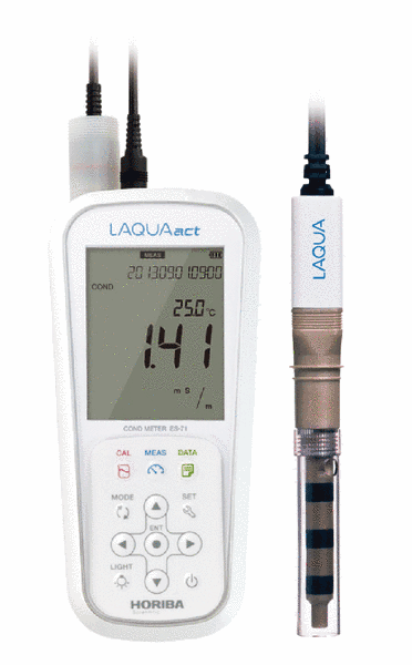 LAQUAact Portable Conductivity Meter Set ES-71
